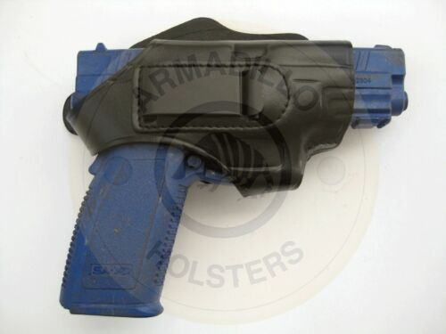 IWB//OWB Armadillo Black Leather Belt Holster w//clip for Springfield XD H2B