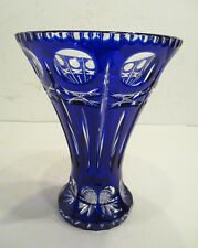 Vase / Pokal / Kelch / Kobaltblau / Bleikristall / Kristall / handgeschliffen