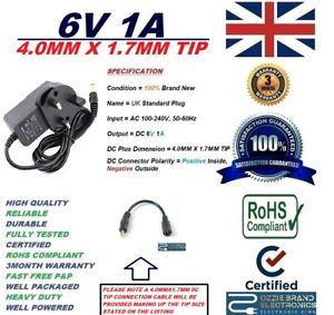 UK 6V Power Supply To Fit Omron M7 Intelli IT HEM-7322T-E Blood Pressure Monitor
