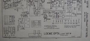 LOEWE-OPTA-Typ-557-W-WPh-Luna-Phono-Schaltplan-Ausgabe-1-Stand-11-54
