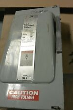 Siemens Ite 100 Amp 240 Volt 3 Phase 4 Wire Fusible Indoor Disconnect Sn323 Used