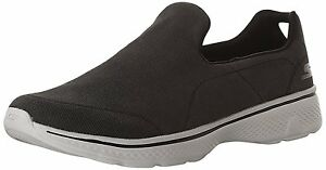 SKECHERS MENS GO WALK 4- MAGNIFICENT WALKING  SHOES #54153/BKGY