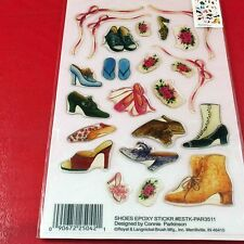 Shoes Clear Epoxy 3-D Sticker Set