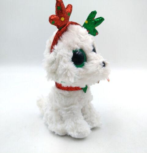 "6/"" TY Beanie Boo The Christmas Dog Stuffed Animal Kids Gift Sugar Plush Toys"