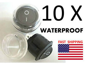 WATERPROOF -- Switch ON OFF - Universal 12v DC or AC Switch - 2 wire Boat Marine