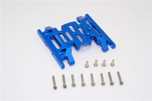 AX90046 Axial SCX10 II Upgrade Parts Aluminium Gear Box Bottom Mount-Bleu