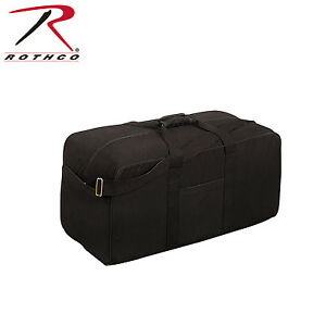 "Black Heavy Duty Canvas Tactical Assault Cargo Bag 29/"" x 14/"""
