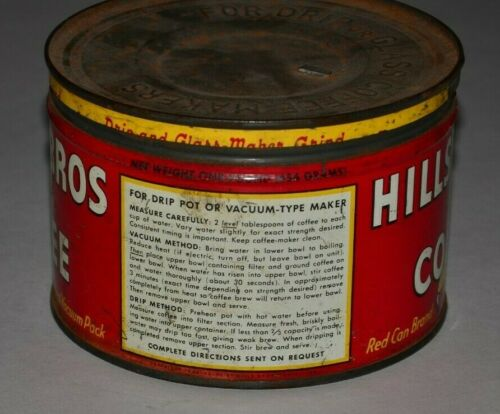 Details about  /Vintage Hills Bros Coffee Can 1lb