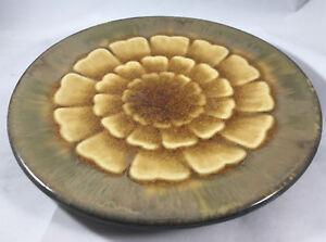 1 Pier Un Akita Plat à Salade Floral Fleur Lotus Géométrique Marron Brun Vert