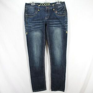 Coogi-Jeans-Womens-Sz-5-6-Blue-Dark-Wash-Stretch-Cotton-Denim