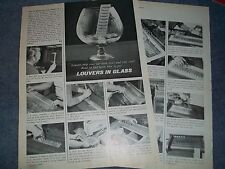 """1975 How To Tech Info Vintage Article on Adding """"Louvers in 'Glass"""" Fiberglass"""