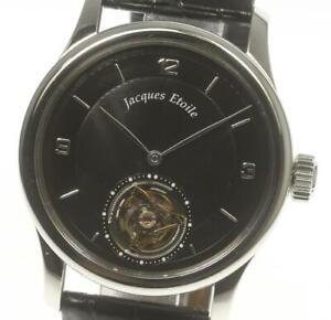 JACQUES-ETOILE-Tourbillon-Hand-winding-Leather-Belt-Men-039-s-430358