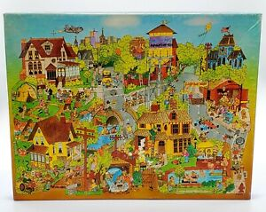 Vintage-Springbok-Pops-Town-500-PC-Jigsaw-Puzzle-PZL4094-1978-MISSING-1-PIECE