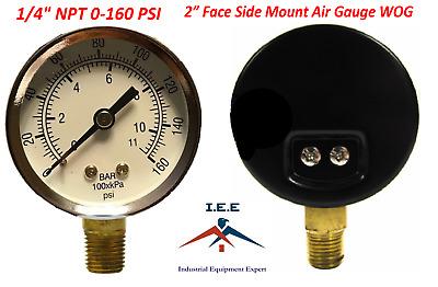 "1//4/"" NPT Air Hydraulic Pressure Gauge 0-60psi Side Mount 1.97/"" Dia Manometer"