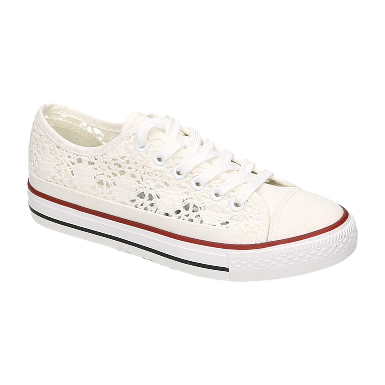 Women's Sneakers Low Top Canvas shoes Lace Trainers Leisure shoes