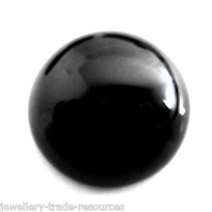 40 Mm Natural Negro Redondo Onyx Cabuchón corte de gema de piedras preciosas