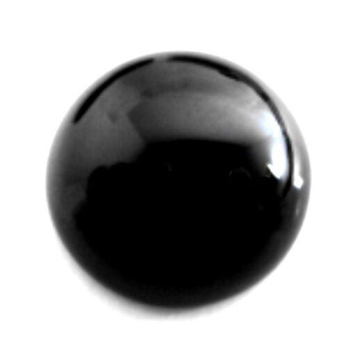 30mm NATURAL BLACK ROUND ONYX CABOCHON CUT GEM GEMSTONE