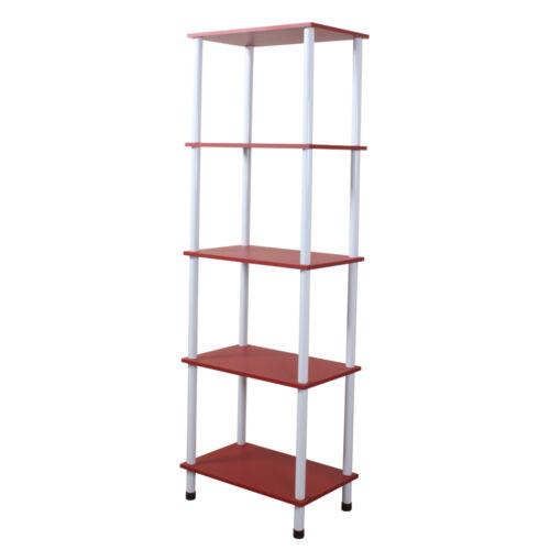 Wickford-cinq tier rangement étagère//vitrine-rouge YRIISH 358R