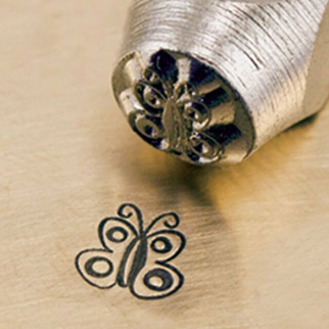 Metal Design Stamp By Impressart 6mm Butterfly Spread