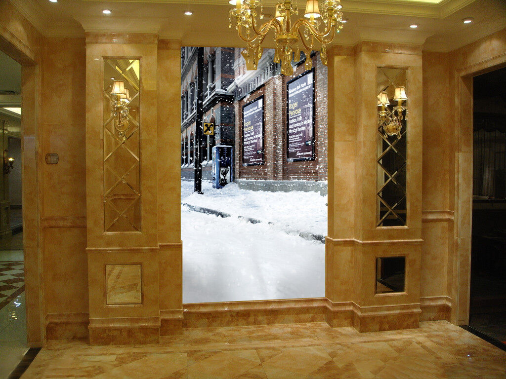 3D Snow City art 2557 Paper Wall Print Decal Wall Wall Murals AJ WALLPAPER GB