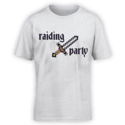 x10 Colours RPG Funny MMORPG WOW Craft Rune Mine Raiding Party Kids T-Shirt