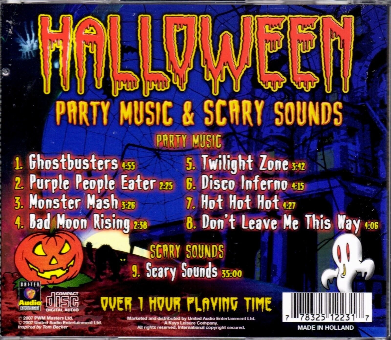 Halloween Party Music & Scary Sounds 2007 - Disc Only No Case