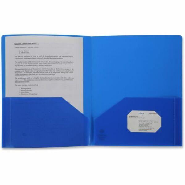 Business Source 20880 2-pocket Poly Portfolio For Sale