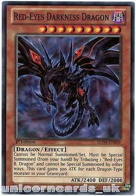 LCJW-EN039 Red-Eyes Darkness Dragon 1st Edition Mint YuGiOh Card