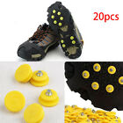 20Pcs Durable Anti Slip Snow Ice Climbing Spikes Grips Crampon Shoes Hiking