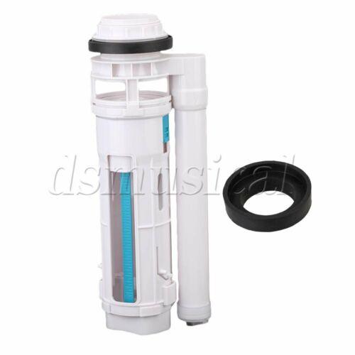 White ABS Split Double Press Drain Fill Valve Toiletries 29cm