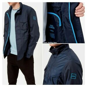 MICHAEL-KORS-Men-039-s-Lightweight-Packable-2-Pocket-Field-Jacket-Navy-Size-2XL