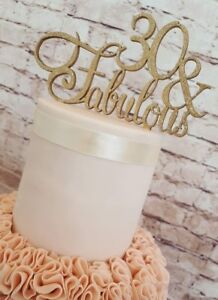 30-amp-FABULOUS-HAND-MADE-BIRTHDAY-CAKE-TOPPER-WOODEN-ANY-COLOUR