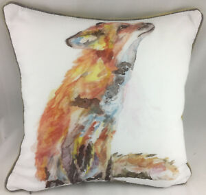 Print of a Sitting Hare on Cream Background FILLED Evans Lichfield Cushion