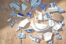 Se han encontrado Pintado A Mano De Cerámica Antigua Ojos solamente Metal detectar fragmentos sherds piezas
