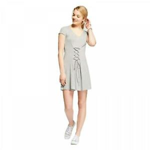 NWT-Mossimo-Women-039-s-Flowy-Corset-T-Shirt-Dress