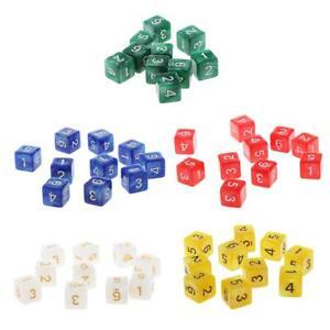 50-Piezas-D6-Dados-de-Seis-Caras-para-DND-RPG-Juego-de-Mesa
