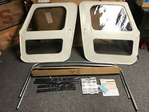 Image is loading NOS-76-86-AMC-JEEP-CJ7-WHITCO-WHITE- & NOS 76-86 AMC JEEP CJ7 WHITCO WHITE SOFT TOP W/ DOORS SE-2073092 | eBay