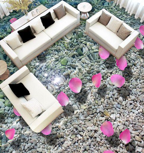 3D petalo spiaggia Pavimento Foto Wallpaper Murales Muro Stampa Decalcomania