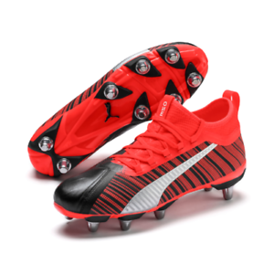 Sada rehén Amperio  Puma ONE Rugby 1 H8 Black Red Rugby Boots Size UK 9 10 11 12   eBay