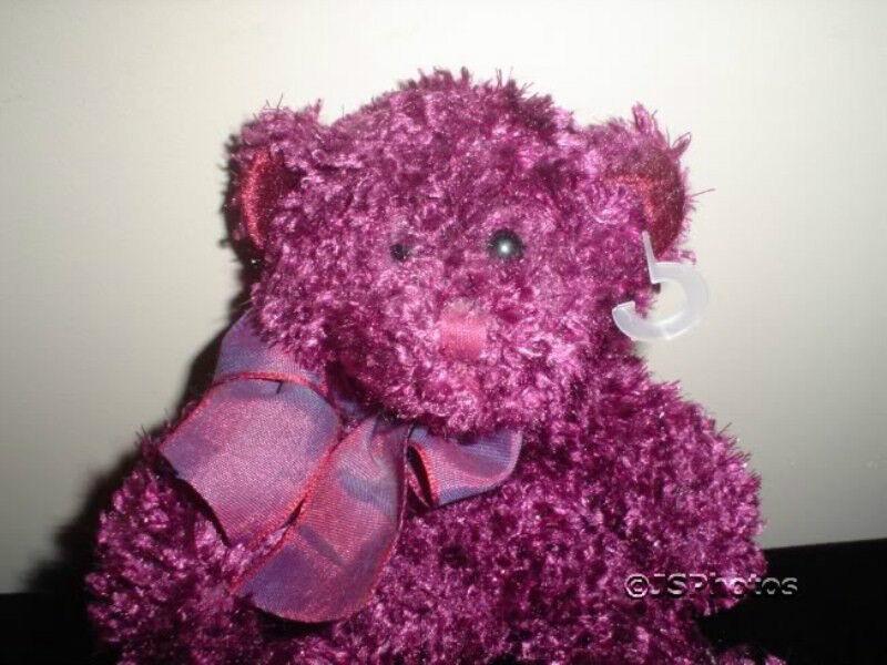 Russ Bear Berrie Poppy Burgundy Bear Russ 6 Inch 20855 033fad