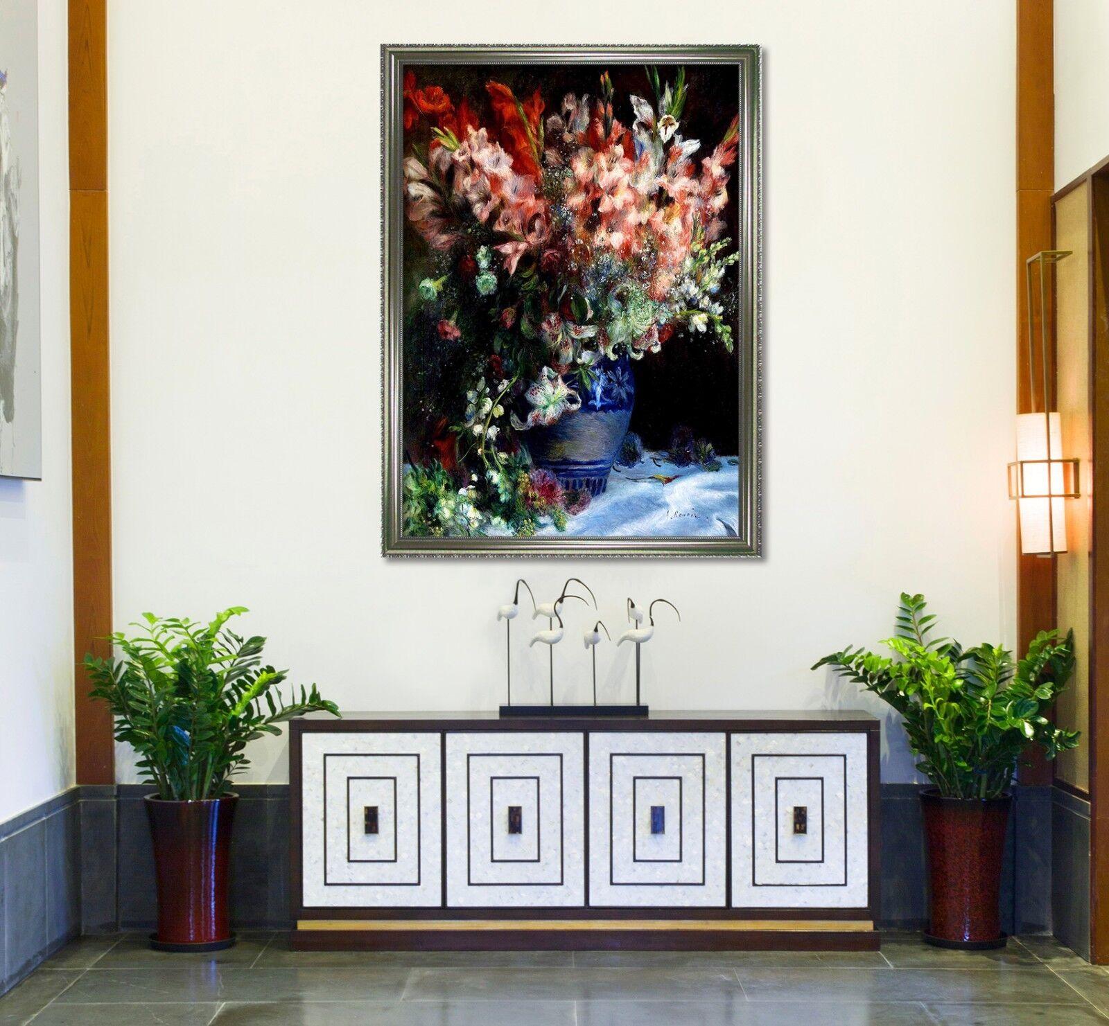 3D Flowers Vase Paint 3 Framed Poster Home Decor Print Painting Art AJ WALLPAPER