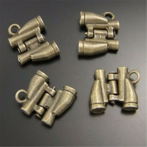 30pcs Vintage Bronze Alloy Mini Telescope Pendants Charms Jewelry Accessories