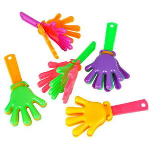 WHOLESALE-LOT-OF-144-MINI-HAND-CLAPPERS-GOODY-BAGS-PARTIES-PINATAS-CARNIVALS
