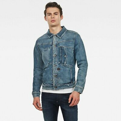 New G-Star Raw Scutar Slim Denim Jeans Jacket M trucker ...