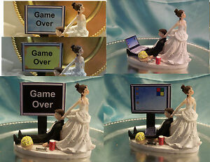 Image Is Loading Wedding Cake Topper Computer Laptop Video R
