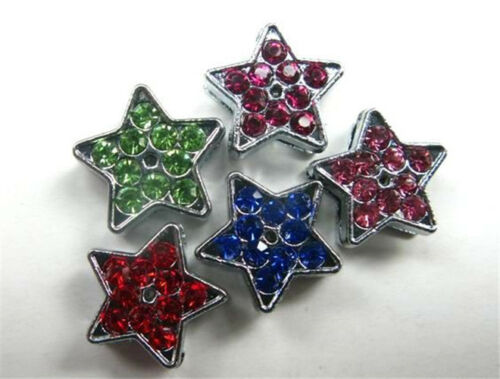 5pc various Accessories 8mm slide charms fit for 8mm belt//pet collar wristband