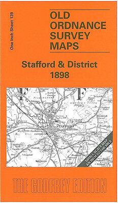 OLD ORDNANCE SURVEY MAPS STAFFORD /& DISTRICT 1898 /& MAP GNOSALL Godfrey Edition