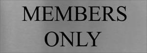 Members Only  Sign Brushed Aluminium Wall Door Plaque