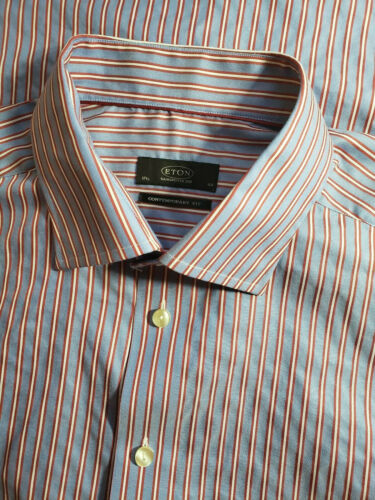 ETON Of Sweden Contemporary Fit Mens Blue Red Stri