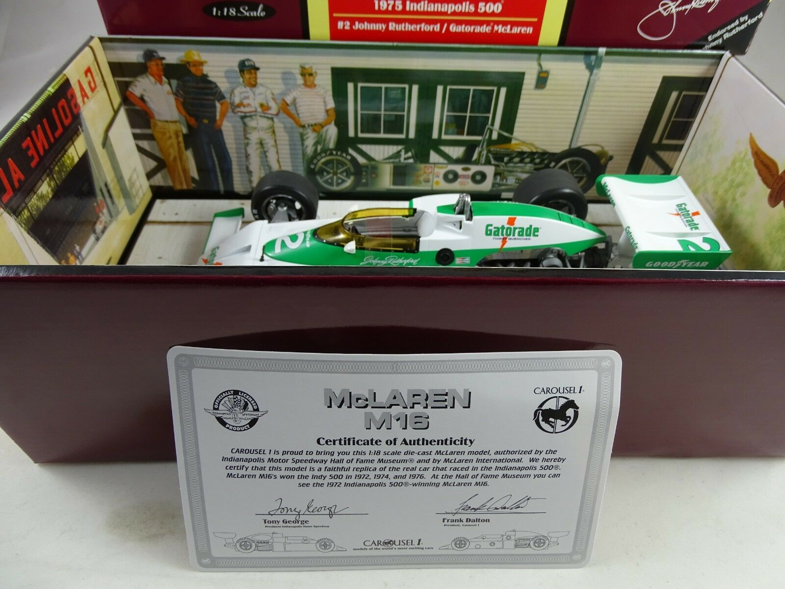 1 18 Carousel Mc Laren M16 1975 Indianapolis 500 Rarität §